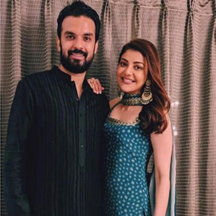 Kajal Aggarwal shares PHOTOS with fiance Gautam Kitchlu for the first time as she wishes fans on Dussehra