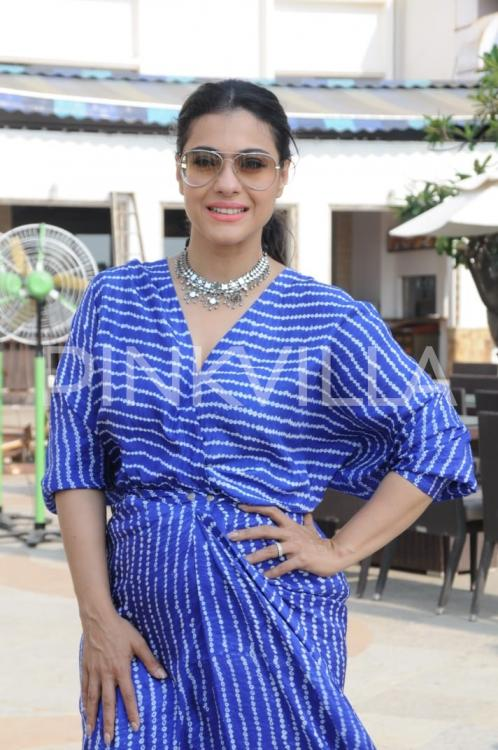 Photos: Kajol keeps it breezy as she steps out to promote Helicopter Eela | PINKVILLA