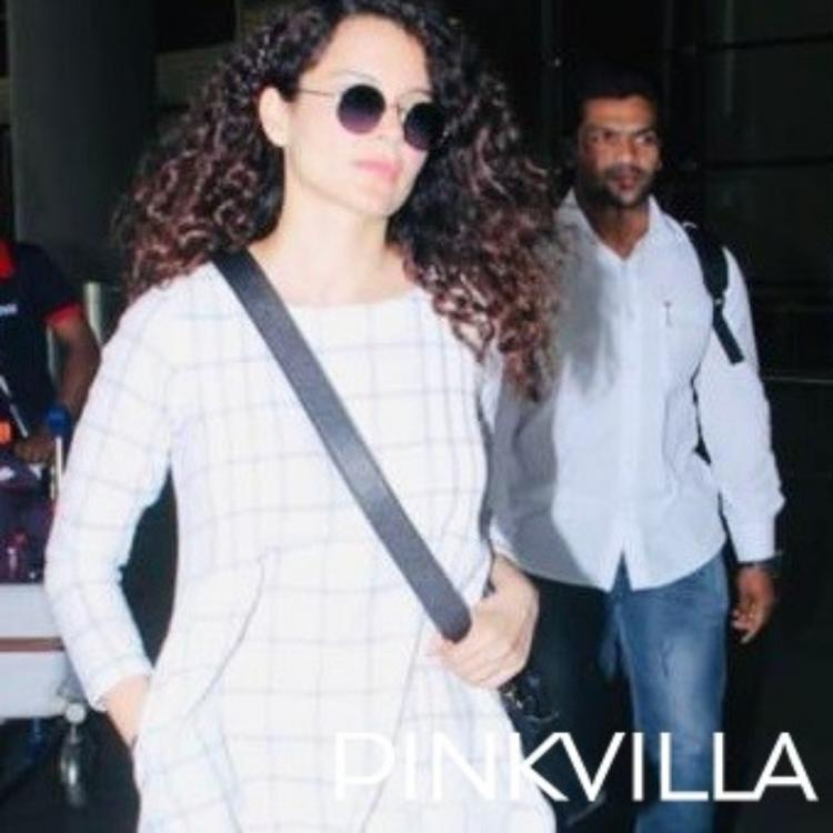 Kangana Ranaut makes a stylish appearance at the airport as she arrives from Coimbatore; View Pics