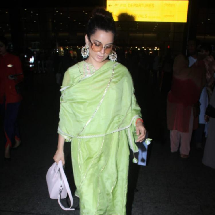 Photos: Kangana Ranaut looks pretty as she slays in yet another of her traditional looks