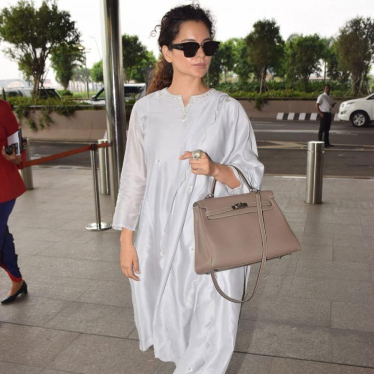 PHOTOS: Kangana Ranaut looks vibrant in her grey suit and her desi swag is unmissable
