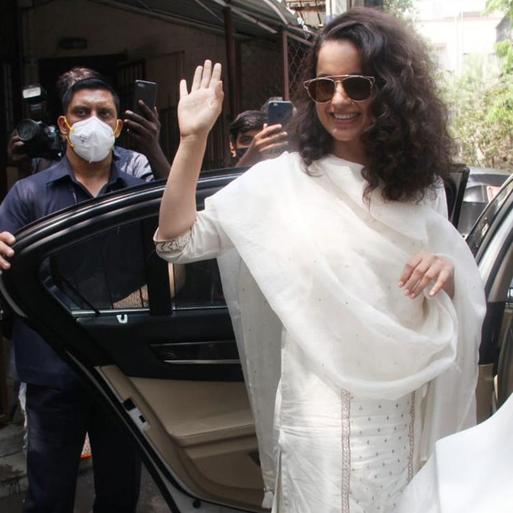 Kangana Ranaut gets papped as she steps out; Kishwer Merchant, Suyyash Rai question her about not wearing mask