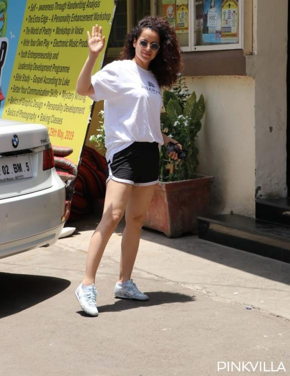 Kangana Ranaut gets snapped on her way to Kabaddi practice for Panga; see photos