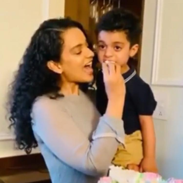 Kangana Ranaut showers her nephew with love as Rangoli Chandel hosts a sweet housewarming party