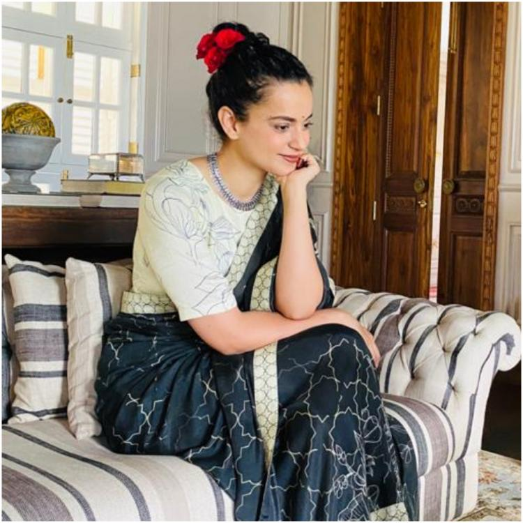 Kangana Ranaut attends an online conference and goes desi in a saree by Saundh: Yay or Nay?