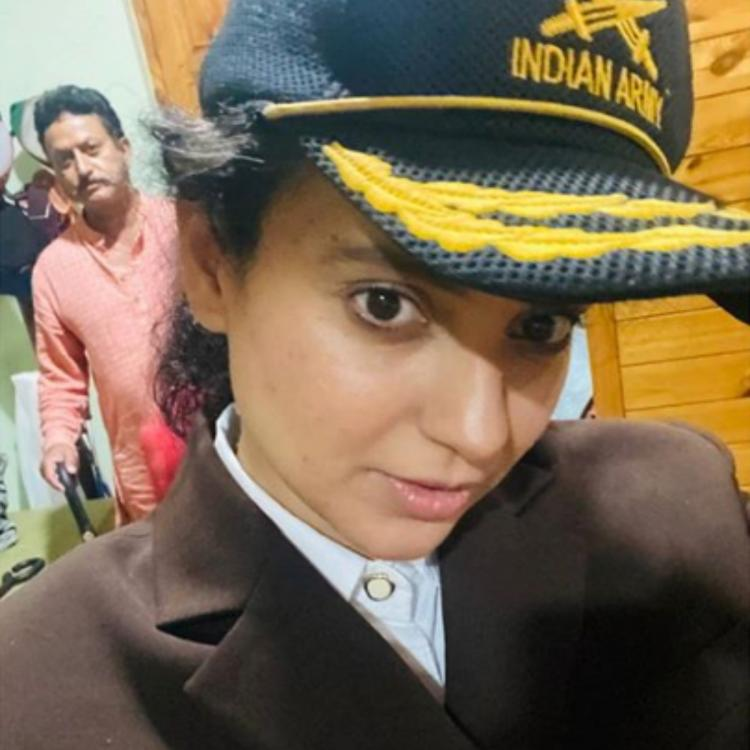 Kangana Ranaut dons Army cap of her uncle who received Shaurya Chakra as she looks forward to Independence Day