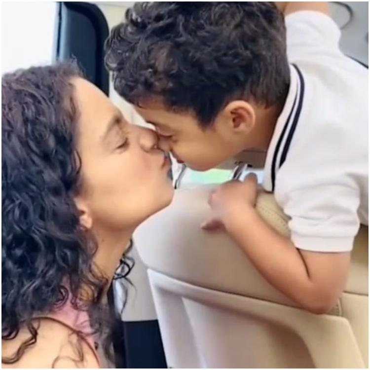 Kangana Ranaut has gala time with nephew Prithvi and dances with mom as she goes on picnic with family; WATCH