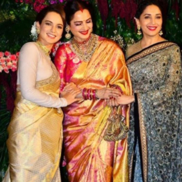 Kangana Ranaut, Rekha & Madhuri Dixit's candid moments in these throwback PHOTOS make for a delightful sight