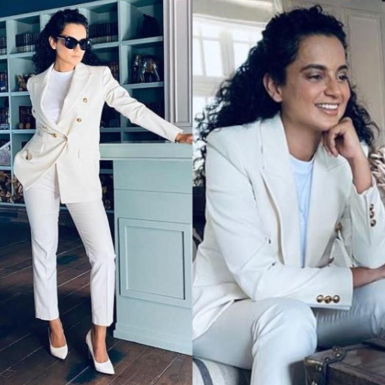 Kangana Ranaut keeps it chic in a white pantsuit for her virtual Cannes 2020 red carpet: Yay or Nay?