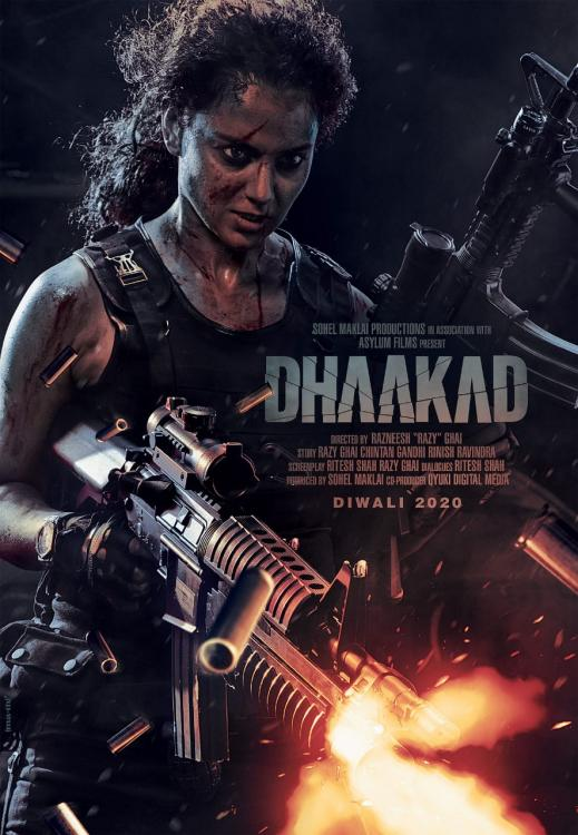 Dhaakad First Look: Kangana Ranaut looks fierce as she gets into action mode in the new poster of the action thriller