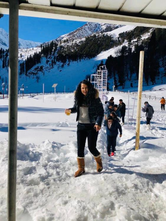 Kangana Ranaut is a total ice baby in her latest photos and it will make you want to visit the mountains too