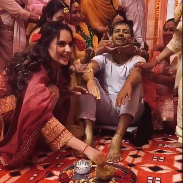Kangana Ranaut posts video of brother's haldi ceremony: Our ancestral house is drowned in wedding festivities