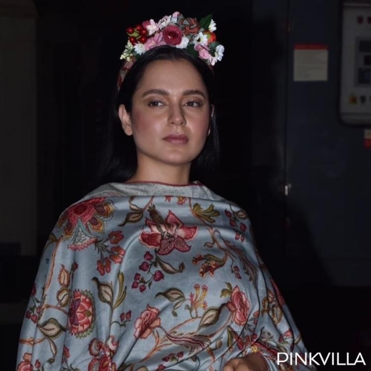 PHOTOS: Kangana Ranaut adds a twist to her traditional outfit at the screening of Panga