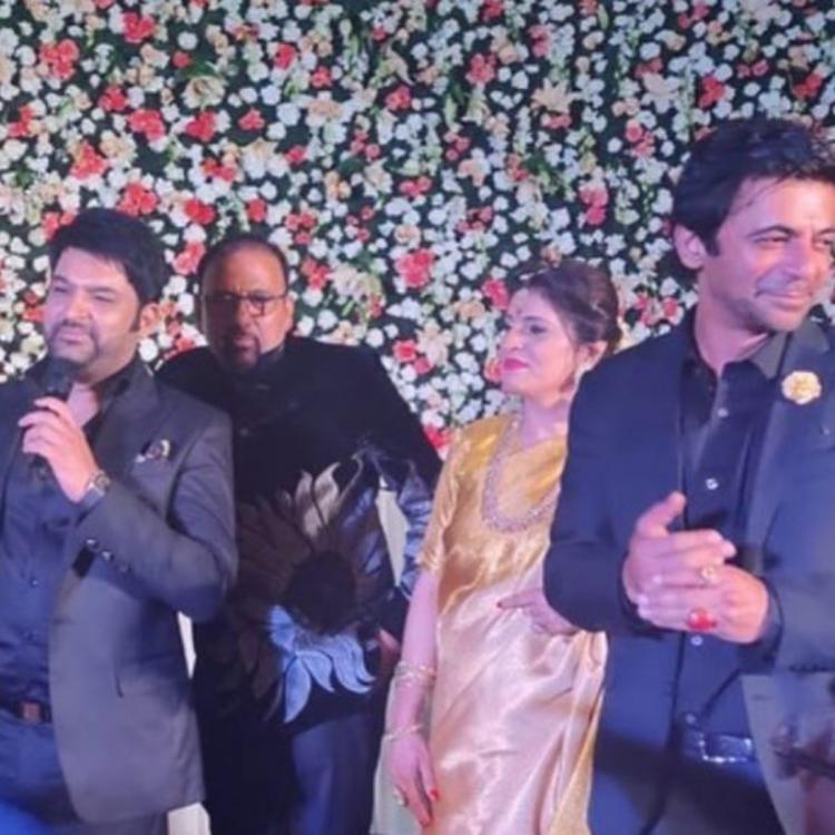 Kapil Sharma and Sunil Grover are all smiles as they perform for a friend's wedding; WATCH