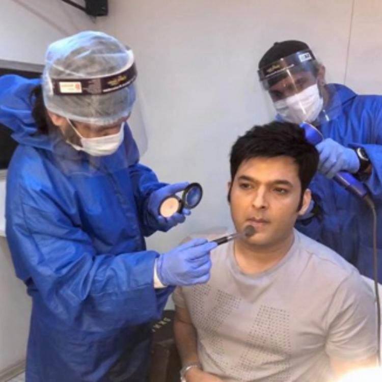 Kapil Sharma follows the 'new normal' as he gets ready for a shoot; See PHOTOS