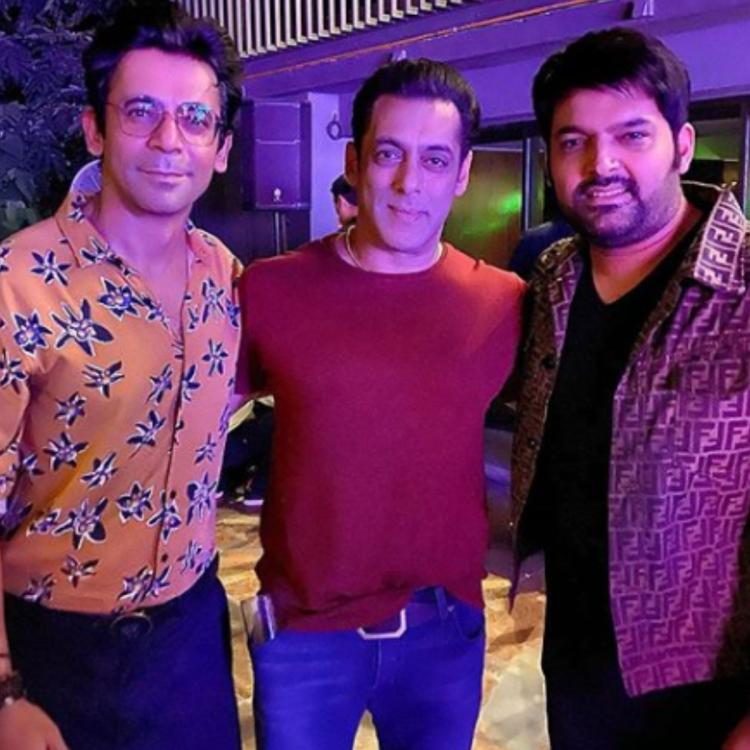 Kapil Sharma poses for a happy photo with Salman Khan and Sunil Grover leaving fans in a frenzy; Check it out