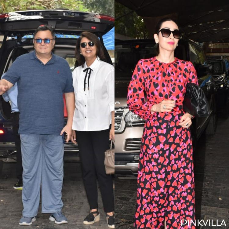 PHOTOS: Rishi and Neetu Kapoor and Karisma Kapoor arrive for Kapoor's Christmas lunch