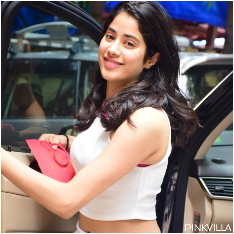 PHOTOS: Janhvi Kapoor clubs her all white look with a SpongeBob SquarePants bag for her Saturday gym session