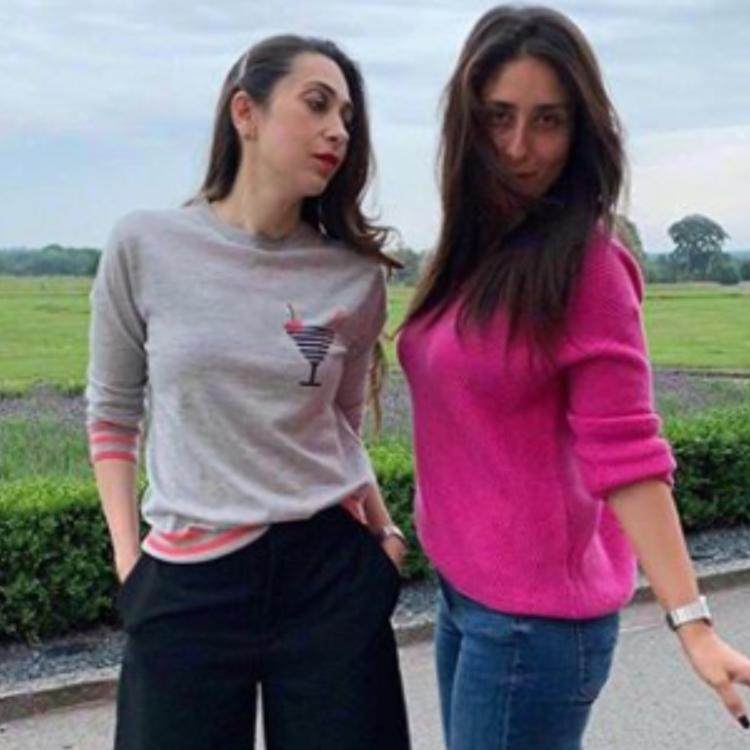 Kareena Kapoor Khan and Karisma Kapoor are literally the 'chill' sisters in B town & netizens can't keep calm