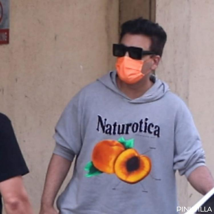 PHOTOS: Karan Johar looks comfy in grey track suit as he steps out to meet Bunty Sajdeh