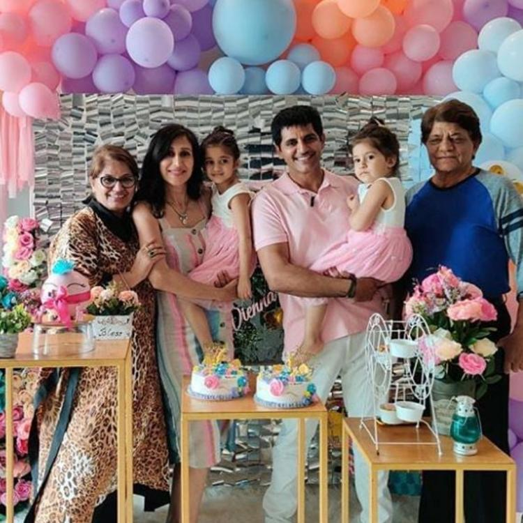 Karanvir Bohra, wife Teejay & family celebrate the 4th birthday of daughters Bella & Vienna; See PHOTOS