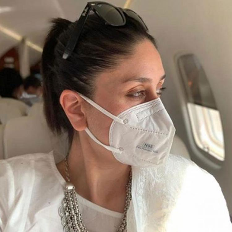 Mom to Be Kareena Kapoor Khan shares a mask clad pic from the plane with a thoughtful COVID 19 related advice