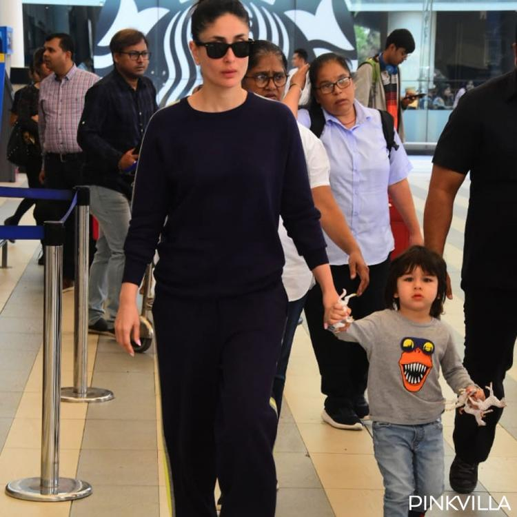 PHOTOS: Kareena Kapoor Khan and Taimur Ali Khan keep it casual yet trendy as they get papped at airport