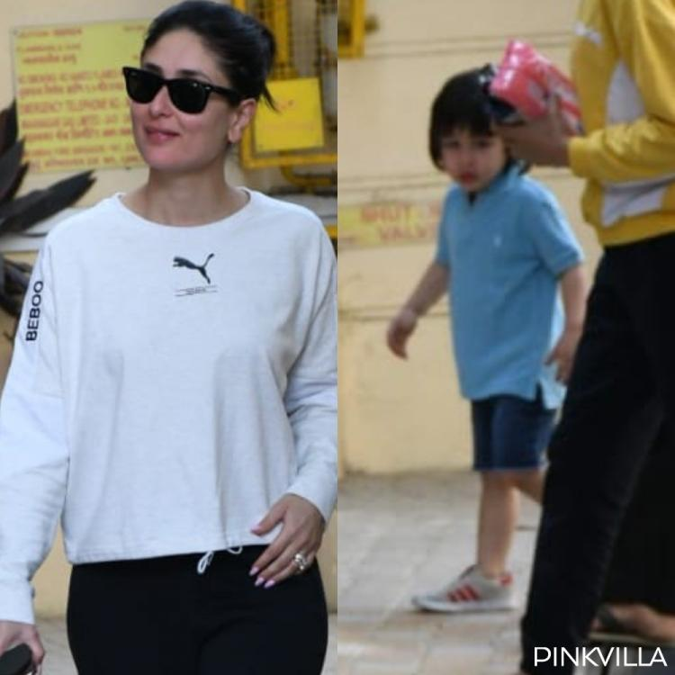 Kareena Kapoor Khan rocks a comfy OOTD with a touch of 'Bebo' but Taimur walking in the back has our attention