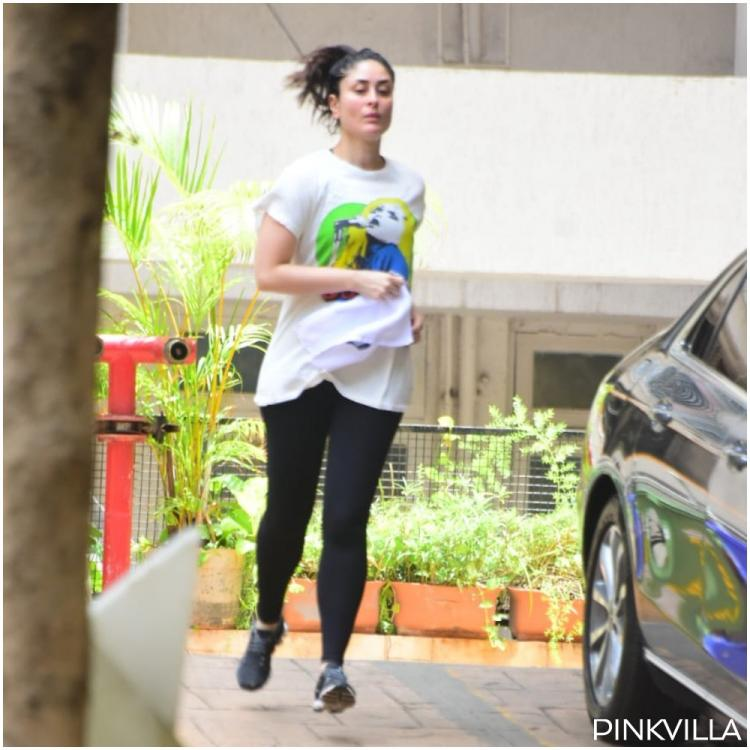 Kareena Kapoor Khan turns on her 'beast mode' for the weekend as she jogs in her building compound; See PHOTOS