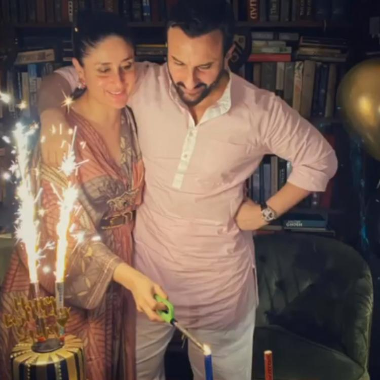 Kareena Kapoor Khan wishes Saif Ali Khan on his 50th birthday and her baby bump makes its first appearance