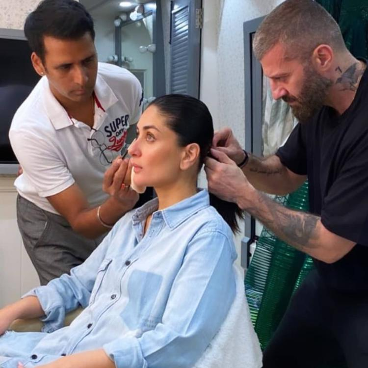 Kareena Kapoor Khan's BTS photo from Lakme Fashion Week 2020 shows the star getting ready for the grand event