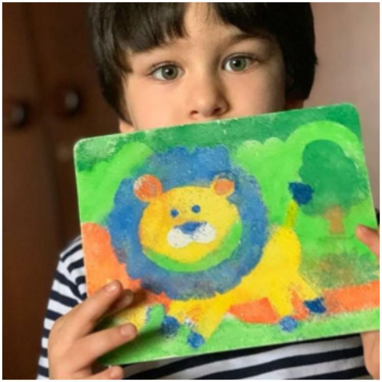 Kareena Kapoor Khan's 'In house Picasso' Taimur shows his king of the jungle drawing; Sonam Kapoor goes 'uff'