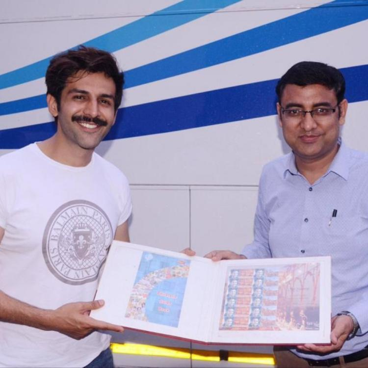 Pati Patni Aur Woh actor Kartik Aaryan gets honoured by Lucknow GPO with customised stamps; Details Inside