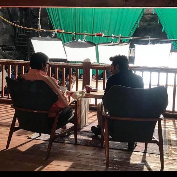 Kartik Aaryan checks off bucket list wish as he shoots with Amitabh Bachchan for an ad; See Pic