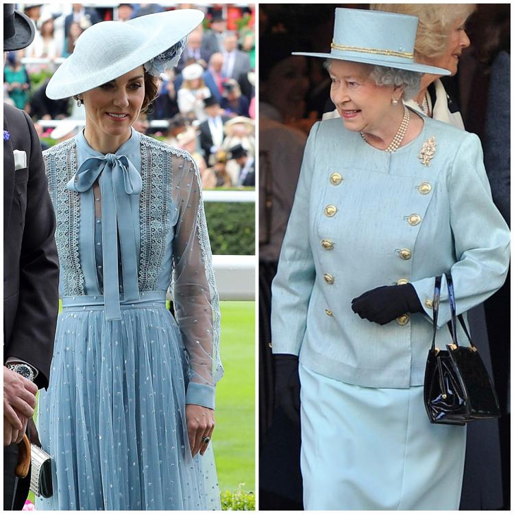 5 Times Kate Middleton coordinated outfits with the Queen in shades of blue