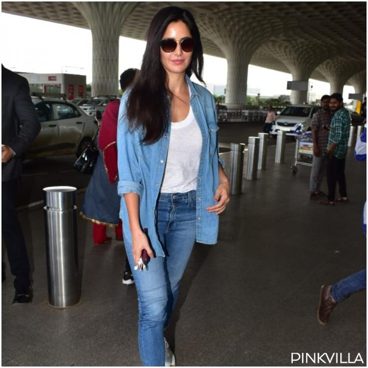 PHOTOS: Katrina Kaif's chic denim airport look is a winner but it's her flawless skin that steals the show