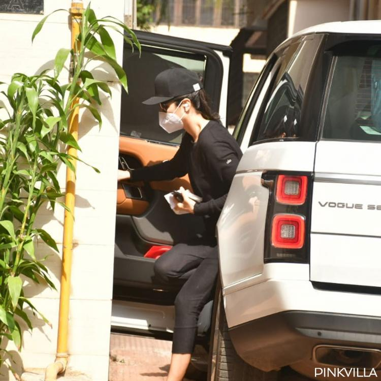 Katrina Kaif nails an all black look as she steps out for the first time after testing COVID 19 negative; PICS