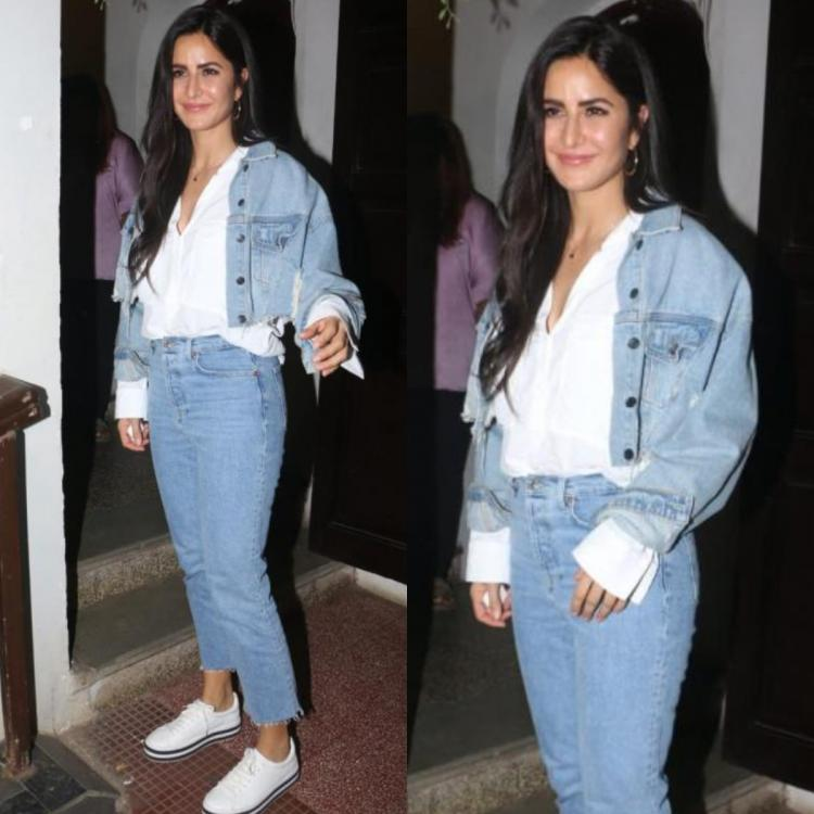 Katrina Kaif breaks the denim on denim monotone look with a white shirt making for the best off duty look