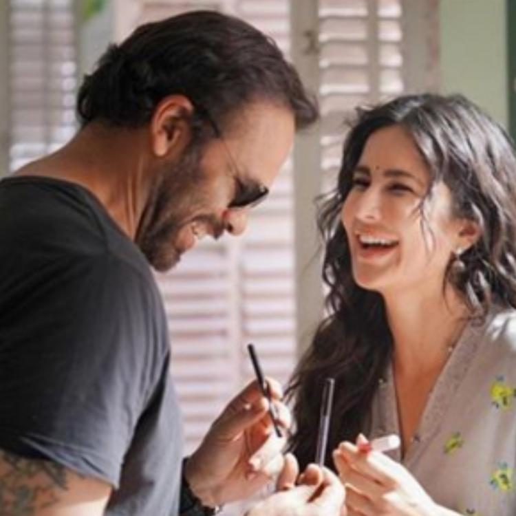 Katrina Kaif and Sooryavanshi director Rohit Shetty share a hearty laughter in this BTS photo; Check Out