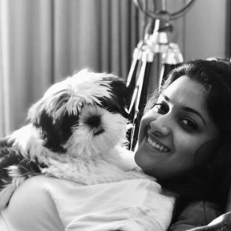 Keerthy Suresh shares an adorable throwback picture with pet Nyke; Says we both looked photogenic