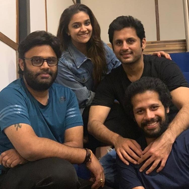 Keerthy Suresh shares PHOTOS with Nithiin after schedule wrap of their upcoming film Rang De; See post