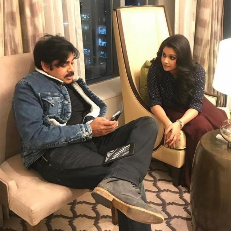 Keerthy Suresh shares a candid PHOTO with Pawan Kalyan as she wishes him a blessed year on his birthday