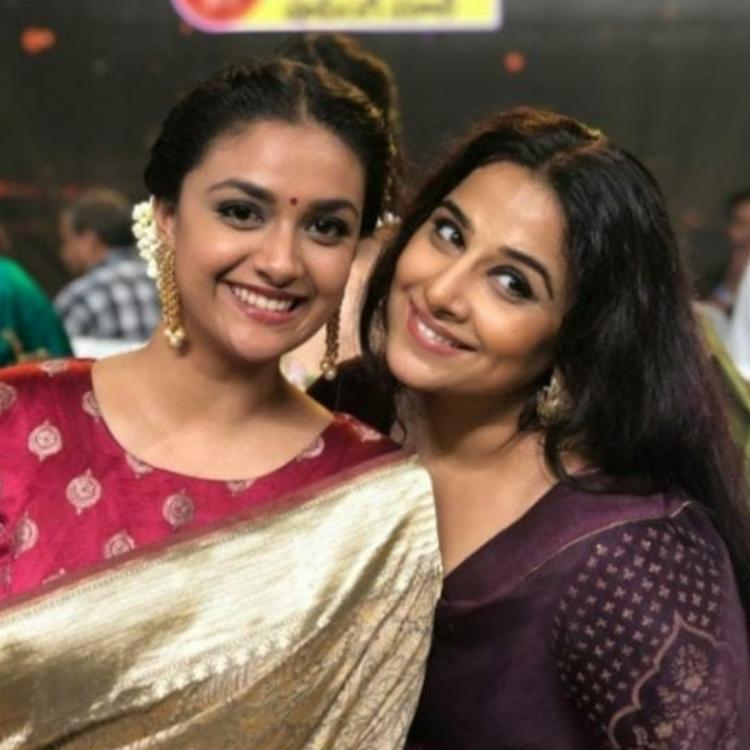Keerthy Suresh shares photo with Vidya Balan on her birthday; Wishes her a beautiful year