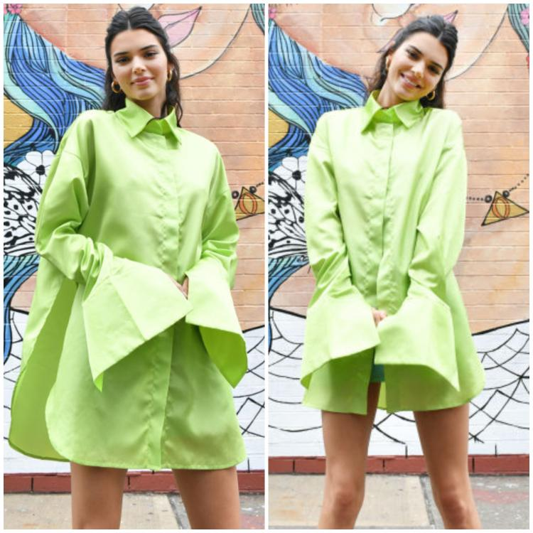 Celebrity Style,style,Kendall Jenner,neon green