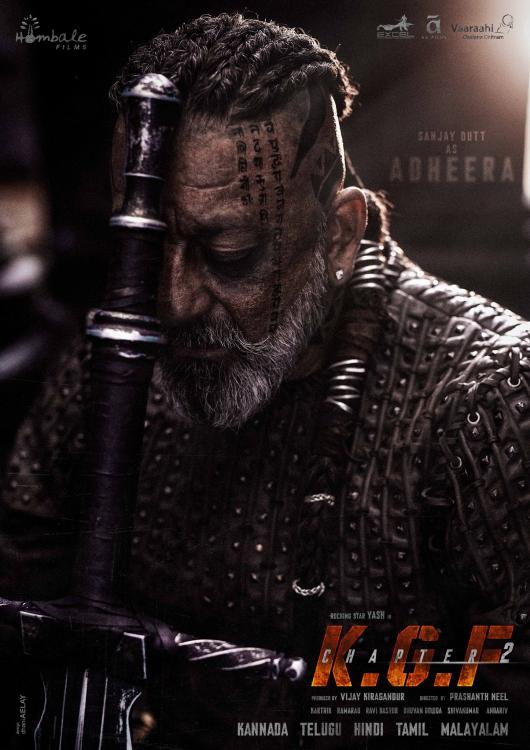 KGF Chapter 2: Sanjay Dutt's intense avatar as Adheera in a new poster hints at the biggest face off with Yash