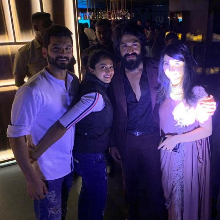 KGF star Yash, Radhika Pandit bonding with Diganth, Aindrita Ray at a party is all we want to do post lockdown