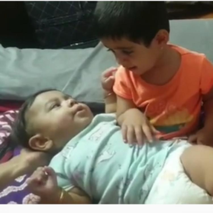 KGF star Yash's daughter Ayra patting her baby brother to sleep is the cutest thing you'll see today; WATCH