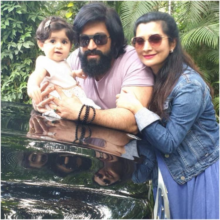 Yash's daughter Ayra steals the show with her cute expressions at a media event in this THROWBACK video