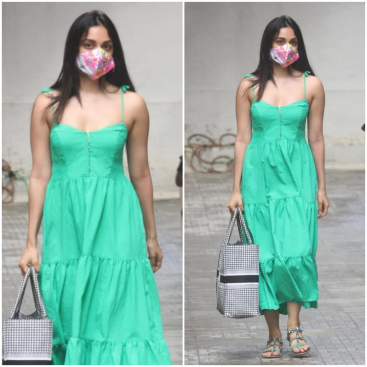 Kiara Advani keeps it simple in a green maxi dress and floral mask: Yay or Nay?