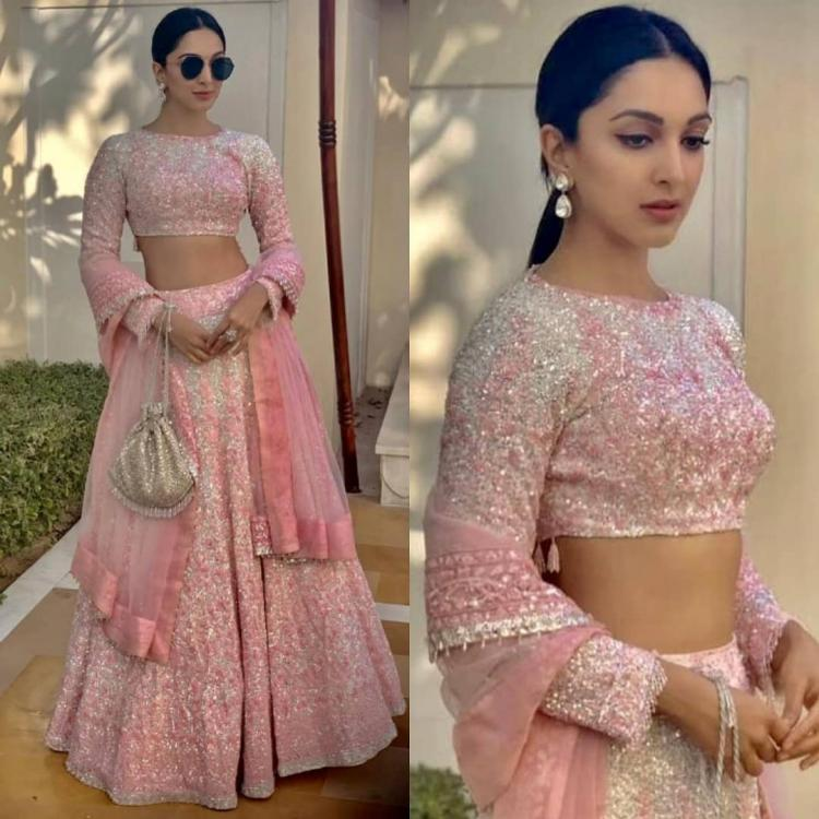 Kiara Advani looks stunning as she goes down the desi route in a pink lehenga by Manish Malhotra; Yay or Nay